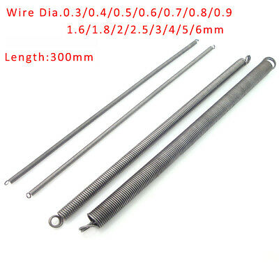 Spring Steel Double Loop Expansion Extension Spring Wire Dia.0.3mm-6mm L:300mm