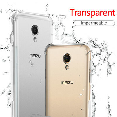 360° Shockproof Clear Slim Soft TPU Case Cover For Meizu S6/M6S 15 Plus M6 Note