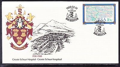 South Africa 1988 Groote Hospital First Day Cover