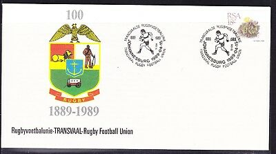 South Africa 1989 Transvaal Rugby Union Centenary First Day Cover