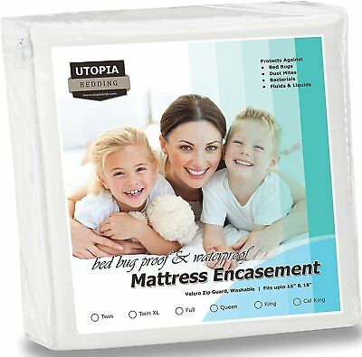 Utopia Bedding Waterproof Zippered Mattress Encasement Cover - Bed Bug Proof,