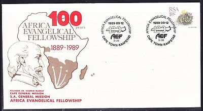 South Africa 1989 Evangelical Fellowship  First Day Cover