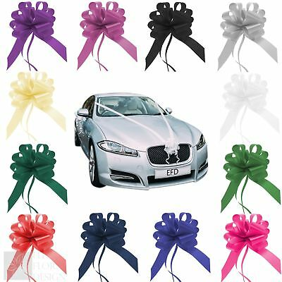 Wedding Car Decoration Kit 7m Poly Ribbon and 50mm Pull Bows - 21 colours