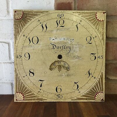 Lovely 19c Antique Long Case Grandfather Clock Dial - Dursley Clockmaker