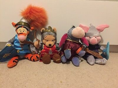 Disney St George Winnie The Pooh And Friends Knights Editions  Plush Toys
