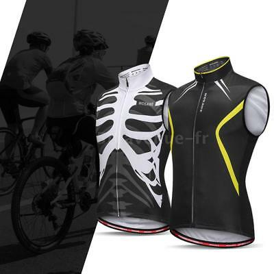 Wosawe Sleeveless Cycling Vest Jersey Breathable MTB Bike Riding Top Sports C2M0