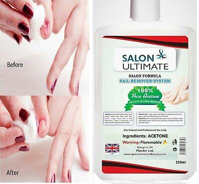 HAZ Acetone Nail care 100% Pure Acetone Nail Polish Remover 250 ML UK PRODUCT**