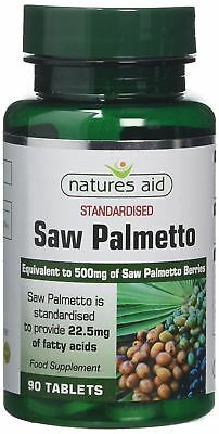 Natures Aid Saw Palmetto - 500mg 90 Tablets