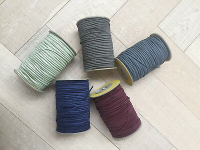 Half Round Elastic Cord 5 mm 150 m Roll. High Quality. Blue Red Green Silver