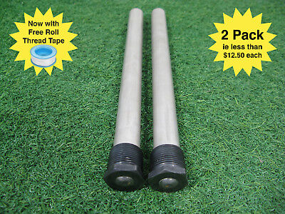 Caravan Hot Water Anode rods suit Suburban HW services - 2 Pack