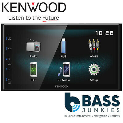 "Kenwood DMX-120BT 6.8"" Double Din Bluetooth Hands Free Media Receiver Car Stereo"