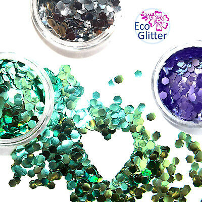 3 CHUNKY Biodegradable Glitters  Festival Set Bio Eco Tattoos Party make up Khe