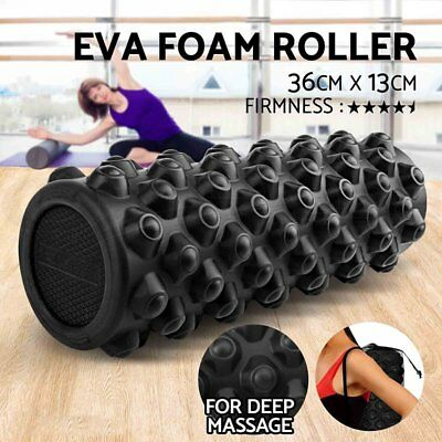Yoga Foam Roller-Eva Exercise Trigger Point-Gym-Pilates-Textur Physio Massage Bn