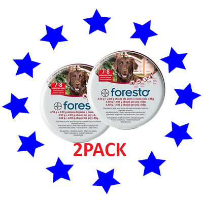 2PACK Seresto/Foresto Flea & Tick Collar for Large Dogs over 18lbs(8kg)