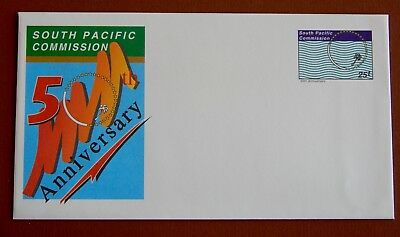 South Pacific Commission 50th Anniversary: Pre Stamped Envelope - Mint 25t