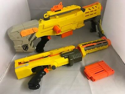 NERF N-Strike Longshot CS-6 With Extension Barrel, Sniper Scope + Extra Mags