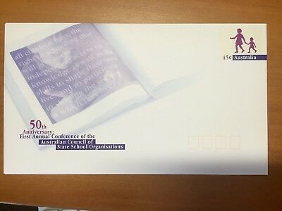 50 Anniversary conference of State School organisations: Pre paid Envelope MINT