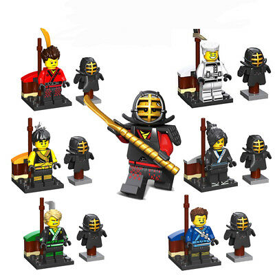 Ninjago Toy Boys Ninja Mini Figures X 6 Kai,Cole,Lloyd,Nya,Jay & Zane fit lego A