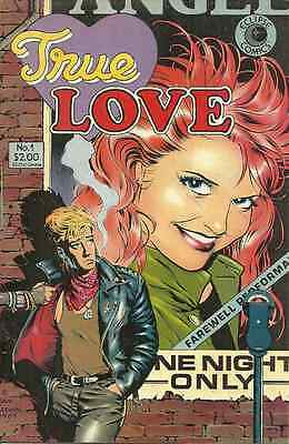 True Love 1, 1986 Eclipse - Dave Stevens Cover, Alex Toth, Mike Peppe, N Cardy