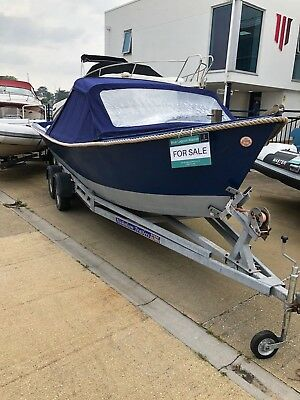Poole Canoe/Cruiser boat, very well looked after and upholstered