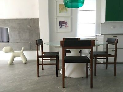 Vintage Retro Design Danish Mid Century Dining Chairs By Anders Jensen set of 4