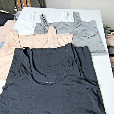 Carole Hochman Lot of Four Size Small Stretch Scoop Neck Layering Tank