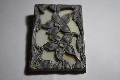 Antique Lead Stained Glass Wall Hanging Photo Flowers Floral