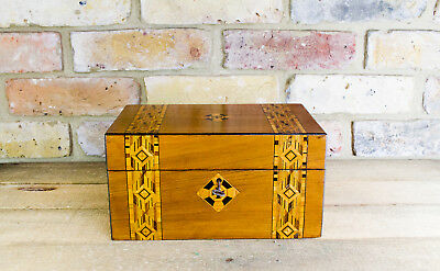Walnut Tunbridge inlay work/sewing box c.1880