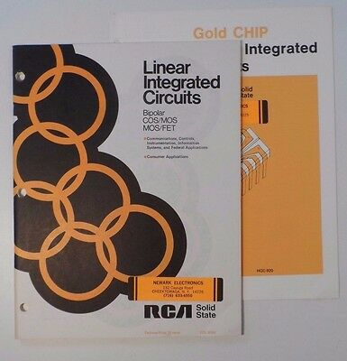 1974 RCA Linear Integrated Circuits & Gold CHIP Catalog/Data
