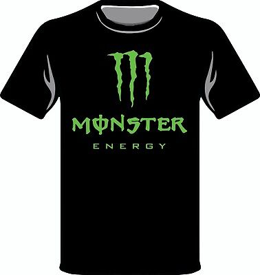 Unofficial Monster Energy Drink Logo Tribute T-Shirt Tee Top Fitted tshirt