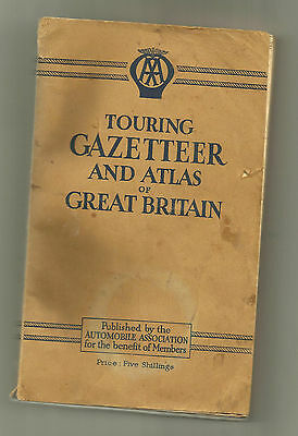 AA Touring Gazetteer and Atlas of Great Britain - 1946