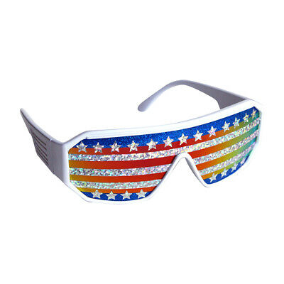 16364533ca Macho Man American Flag Sunglasses Randy Savage Costume Wrestler Wrestling  Party
