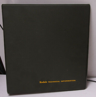 "Kodak 1.5"" Binder for Technical Information - Green - EMPTY - Vintage USED F31E"