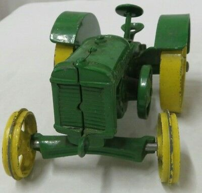 Vintage Old Metal John Deere D Toy Farm Tractor Low Startting Bid, No Reserve