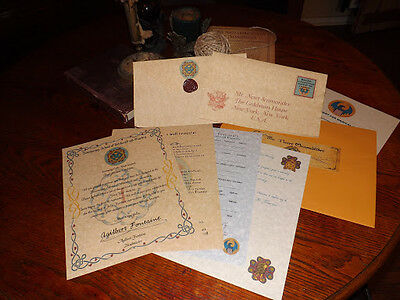 Ilvermorny Wizarding School Acceptance Letter Package with Bonus Pendant