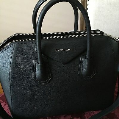 1e61c01cf6573 NWT GIVENCHY ANTIGONA Sugar Goatskin Medium Satchel Bag | Black ...