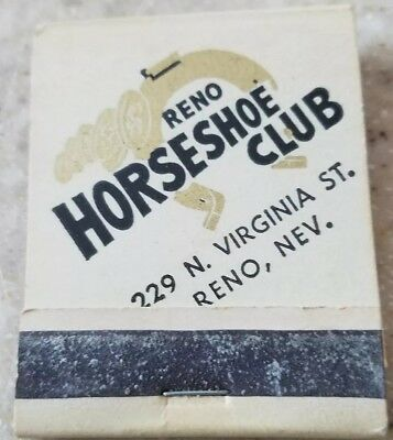 RENO HORSESHOE CLUB Casino Downtown Reno Sparks Nevada NV Rare