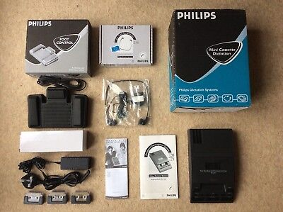 PHILIPS 725 Transcriber Recorder Dictation Transcription SUPERB condition!!