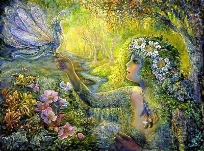Josephine Wall Fantasy Art 'the Dryad And The Dragonfly'