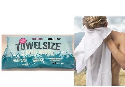 New Festival Towel Size Body Wipes Over 1 Meter Long 2 Wipes in Pack