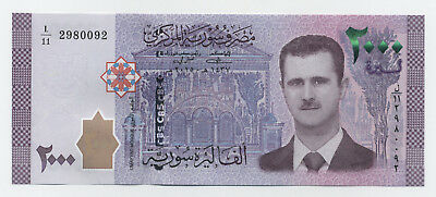 Syria 2000 Pounds 2015 Pick New UNC Banknote