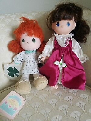 """TWO FOR ONE Precious Moments Dolls Patsy """"March"""" Doll of the Month, Has Tags"""