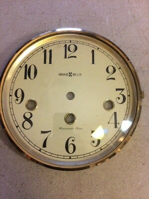 Howard Miller Mantle Clock Dial And Bezel With Glass From Westminster Chimes