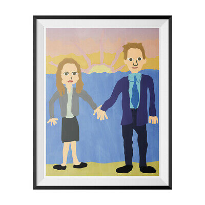 Jim & Pam Wedding Poster The Office Michael Scott Painting Dunder Mifflin 18x24