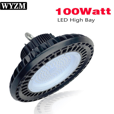 100W UFO High Bay LED Shop Lighting,Works From 110V to 277V,300W-350W HPS New