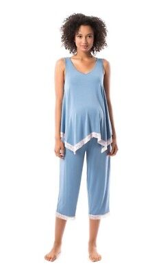 NWT Pip & Vine  2  Piece Pajama Set - Maternity - Medium or Large - 2 Colors