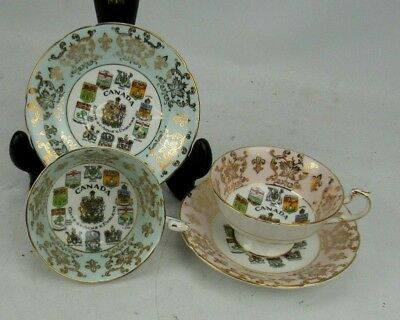 2 Paragon Canada Coat Of Arms & Emblems Cup & Saucer Sets