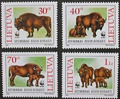 The European Bison stamps, 1996, Lithuania, SG ref: 602-605, 4 stamp set, MNH