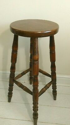 Early 20th Century Antique Turned Beech Stool