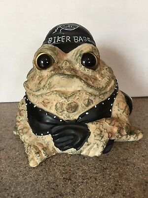 """Toad Hollow Born to Ride Biker Babe 5.5"""" Motorcycle Figurine"""